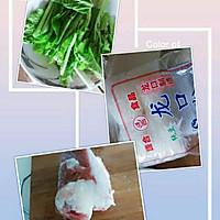 小白菜肉丸粉丝汤的做法图解1