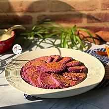 #合理膳食 营养健康进家庭#紫薯糯米饼