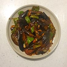 简易版西红柿青椒烧茄子