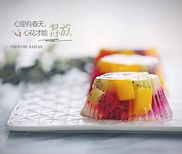 缤纷水果冻的做法
