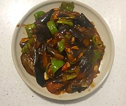 简易版西红柿青椒烧茄子的做法