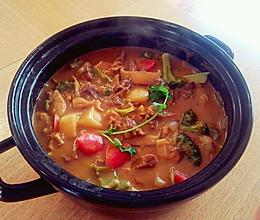 原汤咖喱牛腩锅(超详细步骤图)——冬季暖身的做法