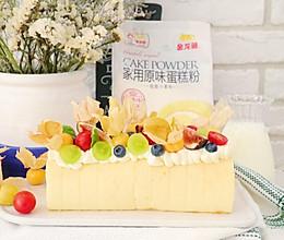 #爱好组-低筋#缤纷水果奶油蛋糕卷的做法