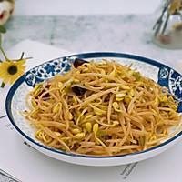 #花10分钟,做一道菜!#辣炒黄豆芽的做法图解9