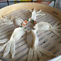 金鱼蒸饺#船歌鱼水饺#的做法图解13