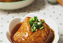 鲍汁油豆腐塞肉的做法