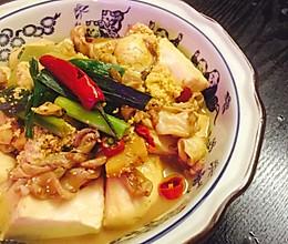 鱼杂炖豆腐的做法