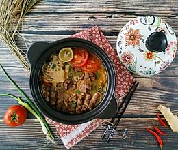 番茄酸菜肥牛锅的做法