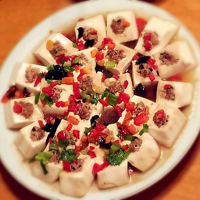 健康减肥菜-五彩酿豆腐