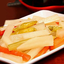 超级开胃小菜--酸辣爽口萝卜条