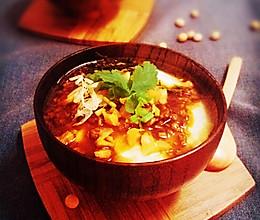 香辣牛肉榨菜豆腐花的做法