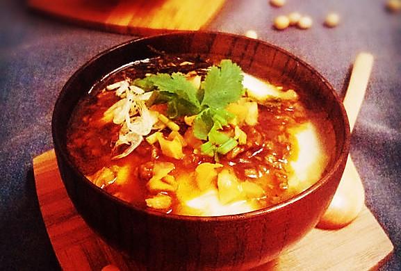 香辣牛肉榨菜豆腐花
