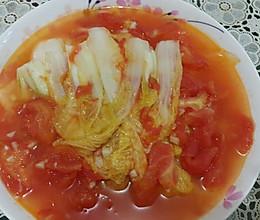 番茄闷娃娃菜(清淡鲜美)的做法