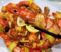 小单味 泰式冬阴功煎香茅虾的做法