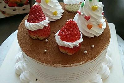 圣诞奶油蛋糕
