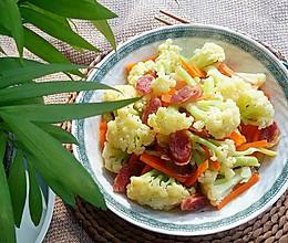 腊味炒花菜的做法