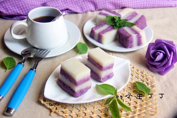 紫薯糯米糕的做法