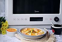 咸蛋黄鲜虾豆腐羹的做法