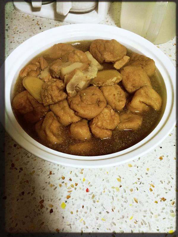 油豆腐烧肉(未使用食用油)的做法