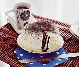 可可漩涡奶油裸蛋糕#舌尖上的春宴#的做法