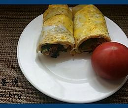 快手早餐-------营养鸡蛋饼的做法