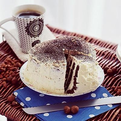 可可漩涡奶油裸蛋糕