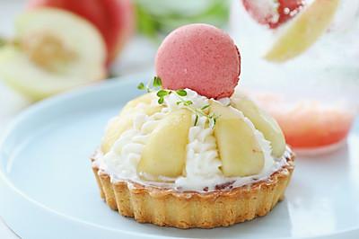 法式水蜜桃塔(附水蜜桃酱制作方法和水蜜桃苏打饮做法)