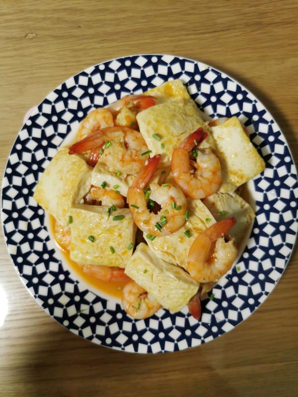 香煎豆腐大虾的做法