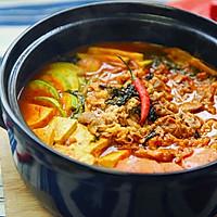 韩式火锅好吃的秘诀——泡菜肥牛锅的做法图解10