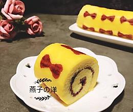 #精品菜谱挑战赛#蓝莓酱蝴蝶结蛋糕卷