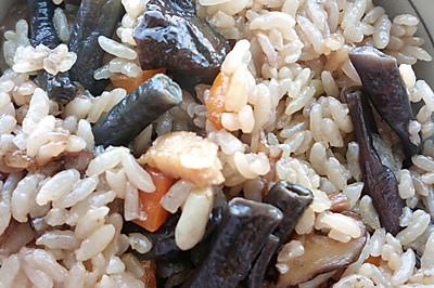 紫豇豆咸饭