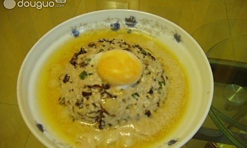 咸鸭蛋蒸肉的做法