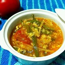 番茄扁豆疙瘩汤