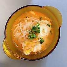 减脂煎蛋萝卜丝虾汤