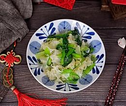 青菜烩银耳#初春润燥正当时#的做法