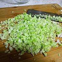 圆白菜香菇素饺子,减肥,健身者的美食的做法图解3