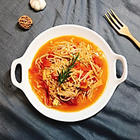 金针菇炒西红柿的做法图解6