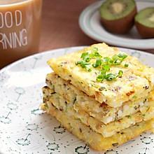 香菇鸡蛋米饭饼#金龙鱼外婆乡小榨菜籽油#