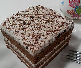 可可戚风奶油蛋糕的做法
