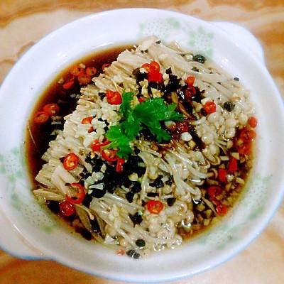 豉香油泼金针菇——十分钟快手菜