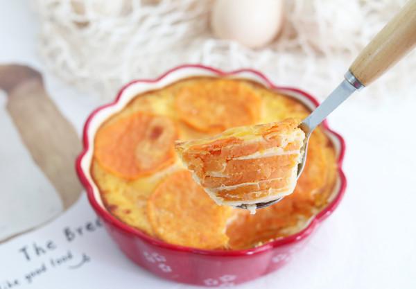 无油无糖,好吃营养又不胖,红薯烤蛋奶!的做法