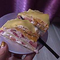 我的千层饼蛋糕  草莓芒果味的 超赞哦的做法图解3