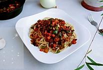 酒柿香菇肉酱面的做法