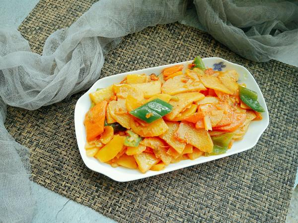 干锅土豆片(全素)的做法
