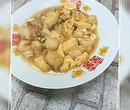 龙头鱼烧豆腐的做法
