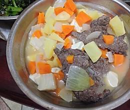 减肥高蛋白土豆胡萝卜牛肉汤的做法