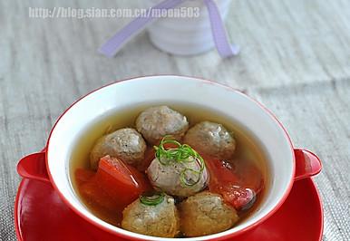 番茄牛肉丸汤