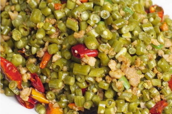 酸豇豆的做法