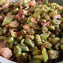 肉碎榄菜炒四季豆