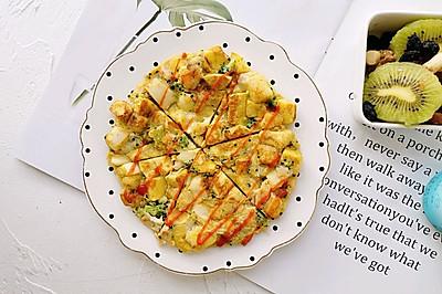 馒头这样吃—西兰花虾仁馒头鸡蛋饼